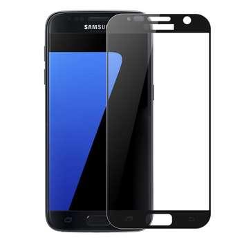 محافظ صفحه نمایش شیشه ای تمپرد مدل Full Cover مناسب برای گوشی موبایل  سامسونگ Galaxy S7