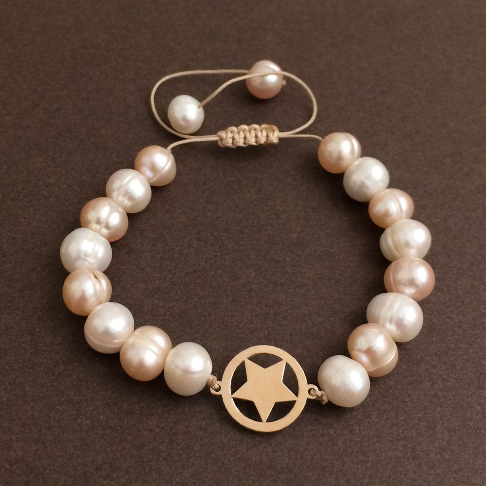 دستبند طلا 18 عیار زنانه الماسین آذر کد SETARE01