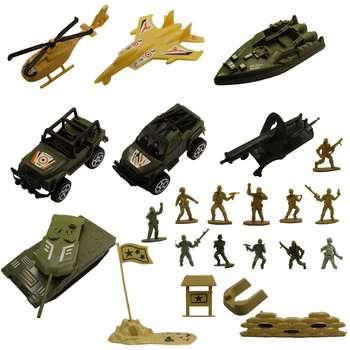 اسباب بازی جنگی مدل پادگان مجموعه 23 عددی