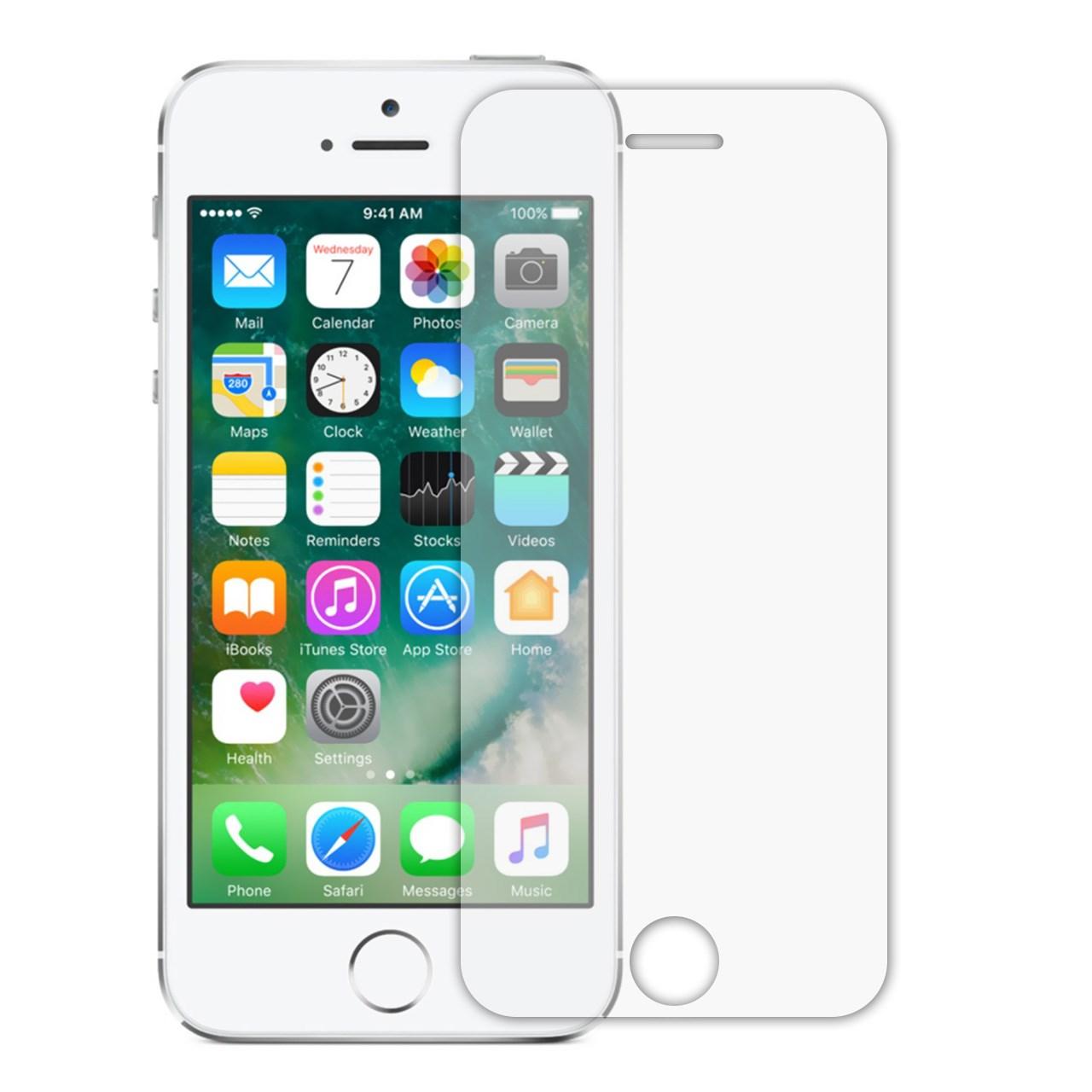 محافظ صفحه نمایش شیشه ای تمپرد مناسب برای گوشی موبایل اپل iPhone 5/5S/SE              ( قیمت عمده )