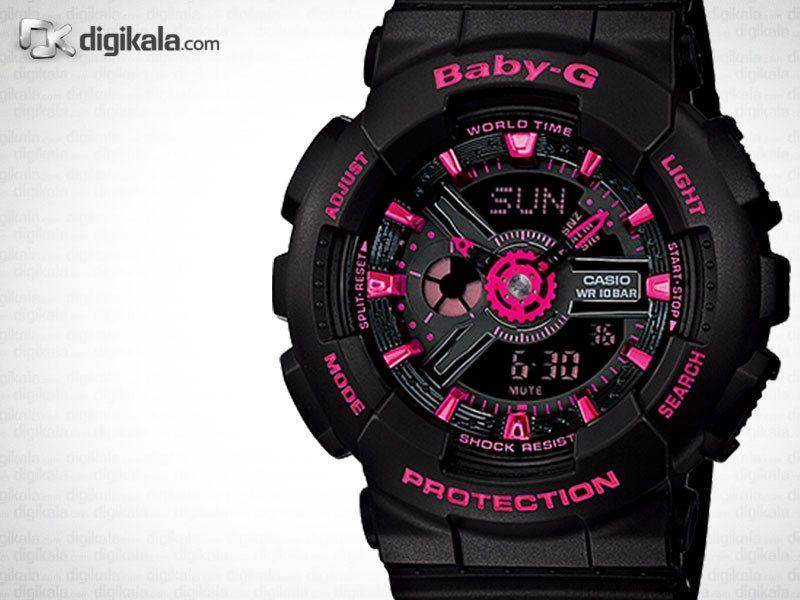 ساعت مچی عقربه ای زنانه کاسیو مدل Baby-G BA-111-1ADR -  - 1