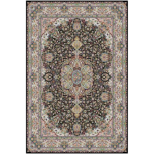 فرش ماشینی ماندگار پارس طرح سالاری زمینه سورمه ای