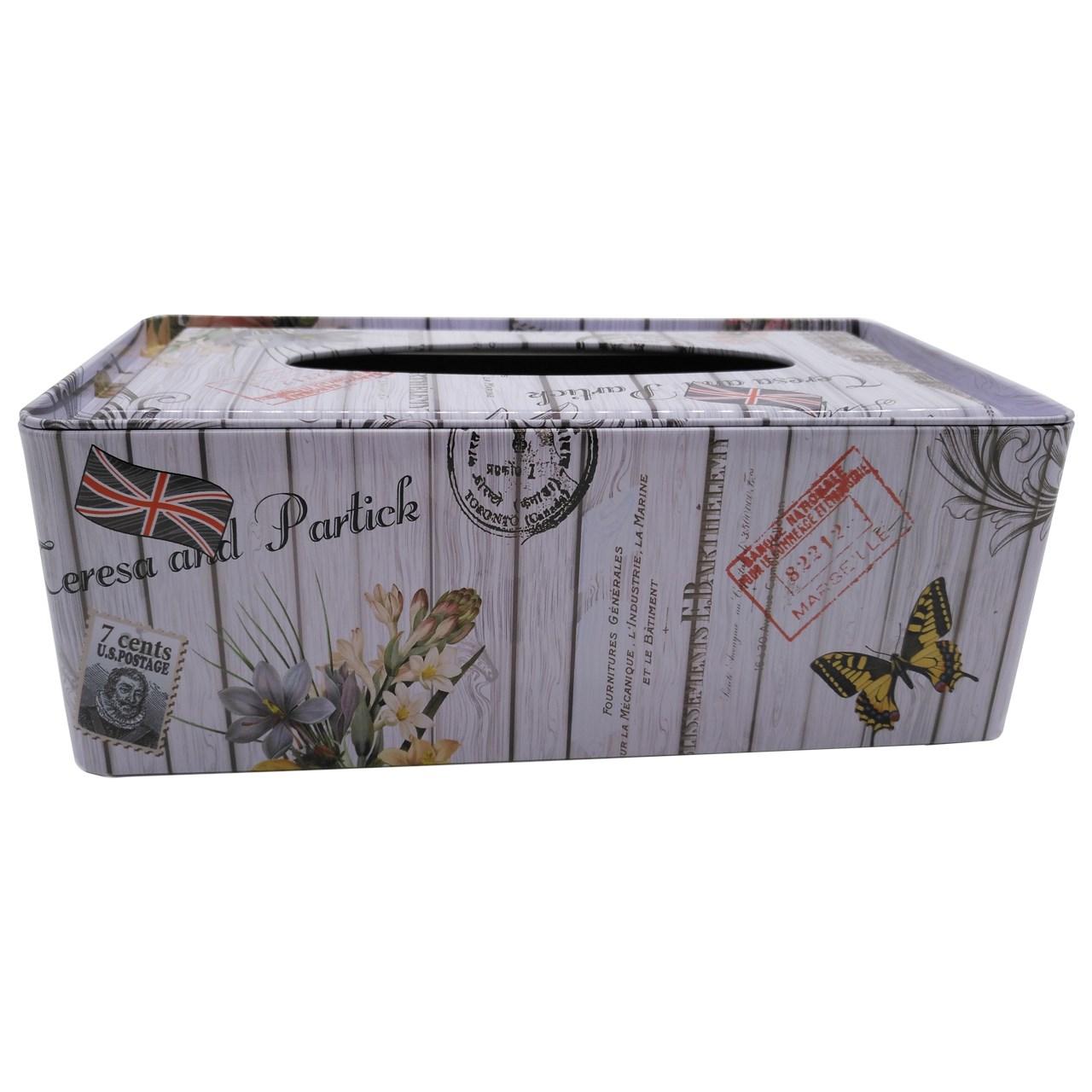 جعبه فلزی دستمال کاغذی اچ اف کد 68