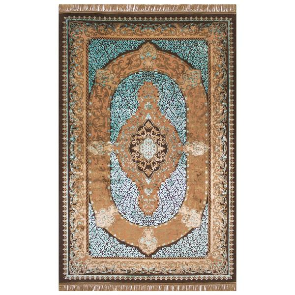 فرش ماشینی عرش طرح شهرزاد زمینه آبی