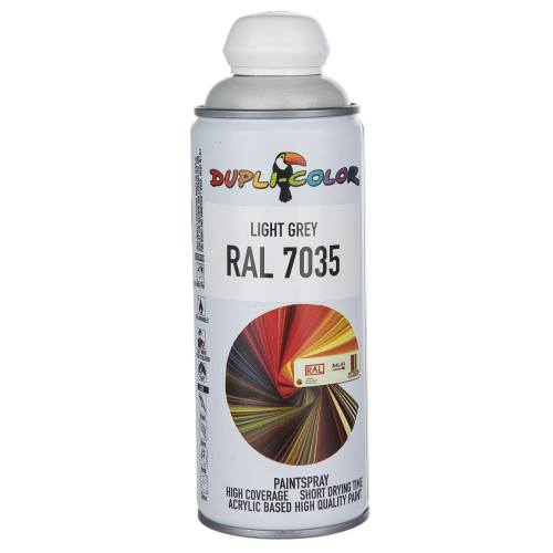 اسپری رنگ خاکستری روشن دوپلی کالر مدل RAL 7035 حجم 400 میلی لیتر