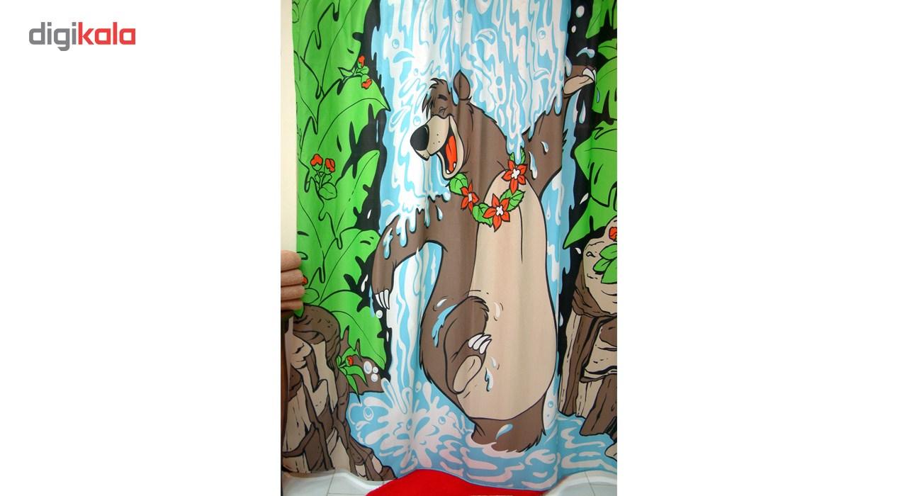 پرده حمام فرش مریم مدل Baloo - سایز 180 × 180 سانتی متر
