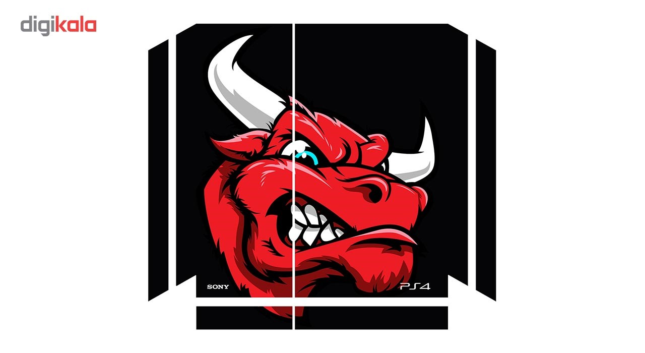 برچسب افقی پلی استیشن 4 ونسونی طرح Angry Red Bull Head