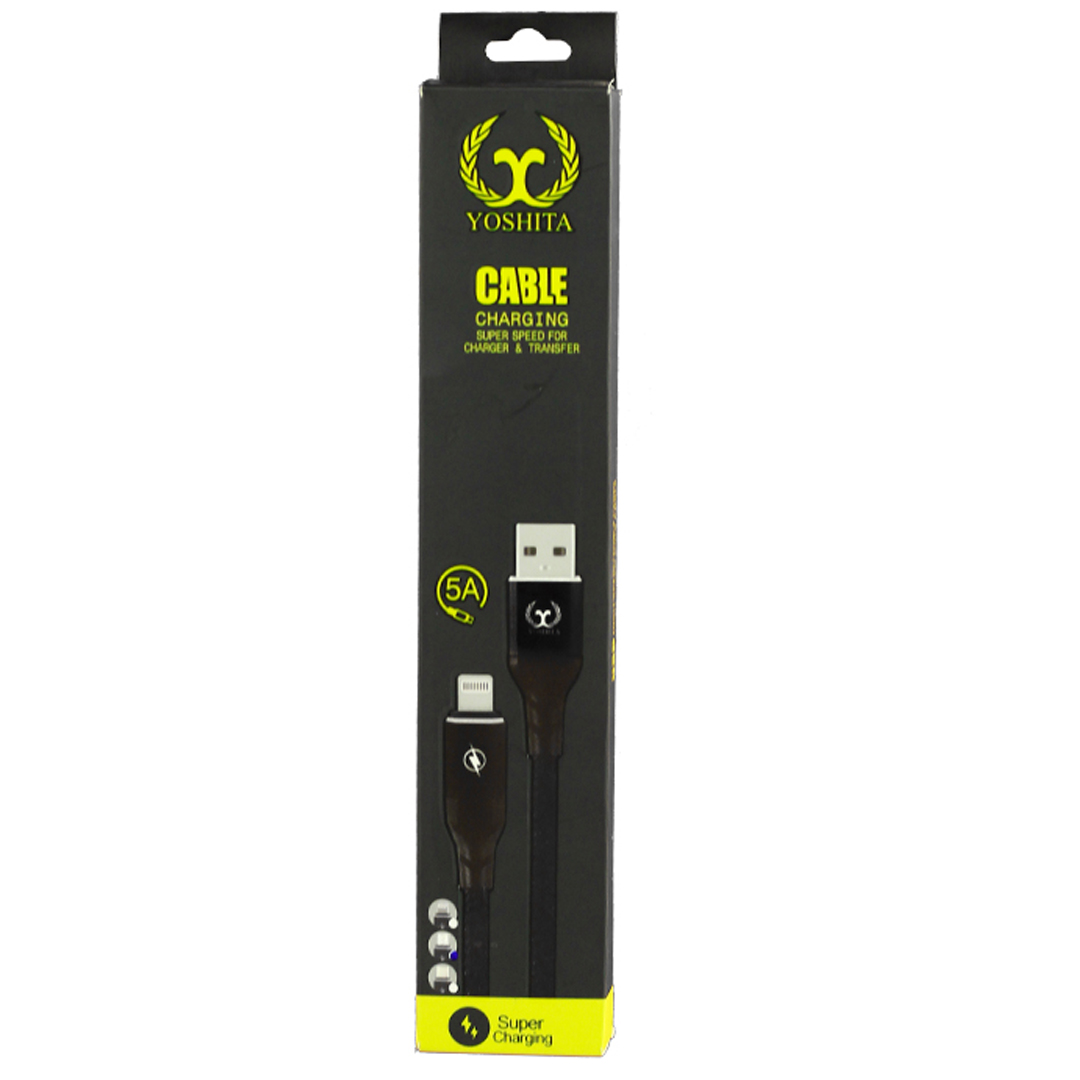 کابل تبدیل USB به لایتنینگ یوشیتا مدل auto-disconnect طول 1 متر