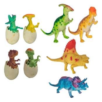 فیگور طرح دایناسور مدل Dino Playset  مجموعه 8 عددی