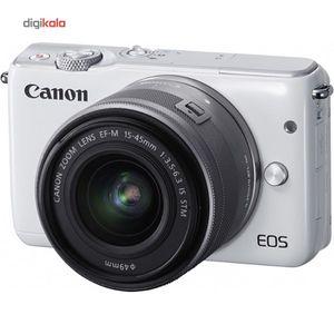 دوربین دیجیتال بدون آینه کانن مدل EOS M10به همراه لنز45- 15 میلی متر  Canon EOS M10 Mirrorless Dig