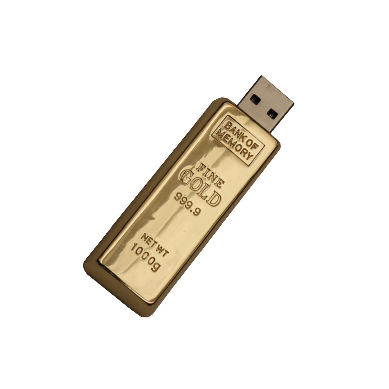 بررسی و {خرید با تخفیف}                                     فلش مموری طرح شمش طلا مدل DME1046-U3 ظرفیت 128 گیگابایت                             اصل