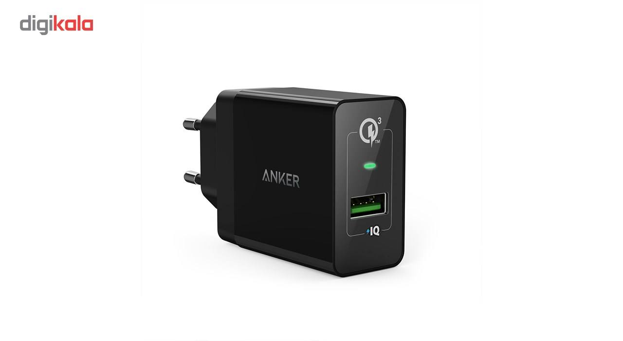 شارژر دیواری انکر 18 وات مدل Quick Charge 3.0 Power Port plus 1 A2013 همراه با کابل micro USB main 1 4