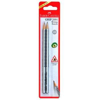 مداد مشکی فابر کاستل مدل Grip 2001 - بسته 2 عددی