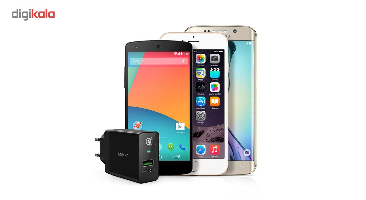 شارژر دیواری انکر 18 وات مدل Quick Charge 3.0 Power Port plus 1 A2013 همراه با کابل micro USB main 1 8