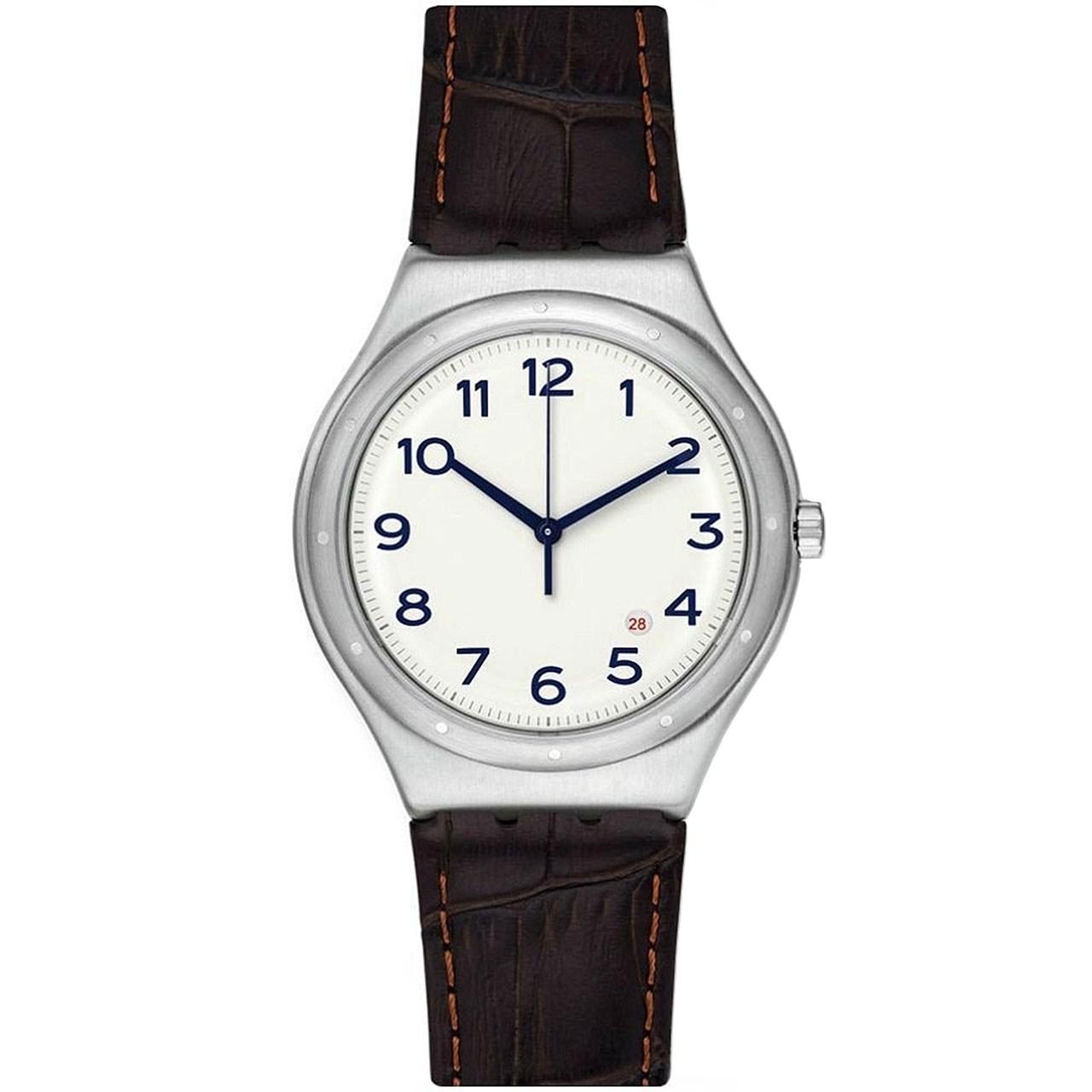ساعت مچی عقربه ای مردانه سواچ مدل YWS416