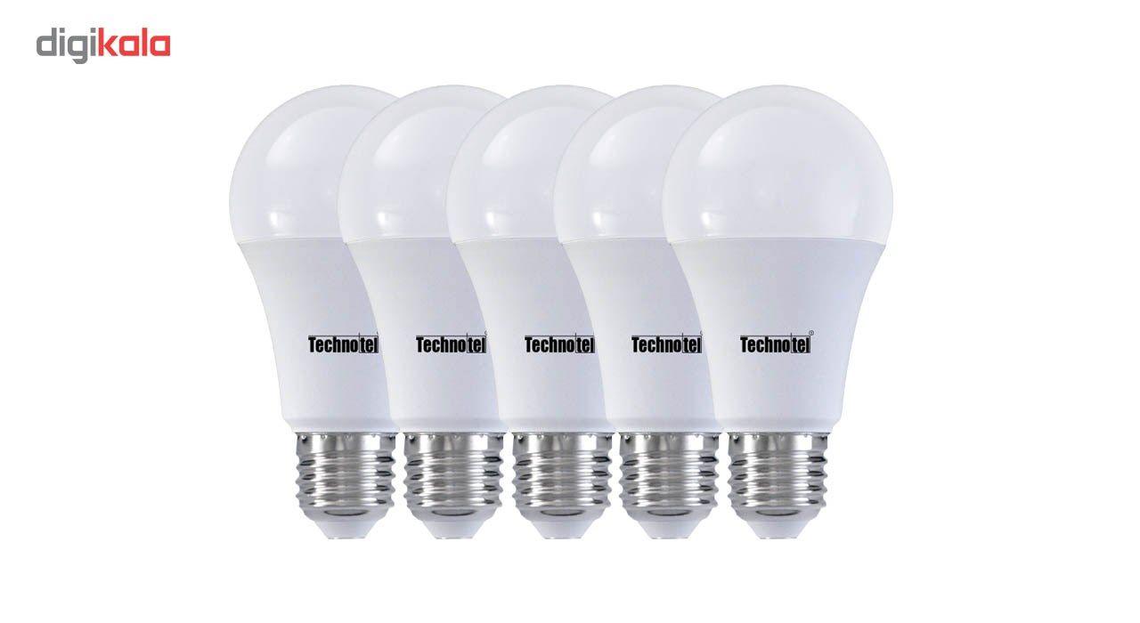 لامپ ال ای دی 9 وات تکنوتل مدل 309 پایه E27 بسته 5 عددی main 1 1
