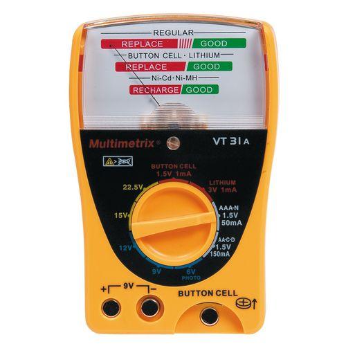 تستر باتری مولتی متریکس مدل VT31A