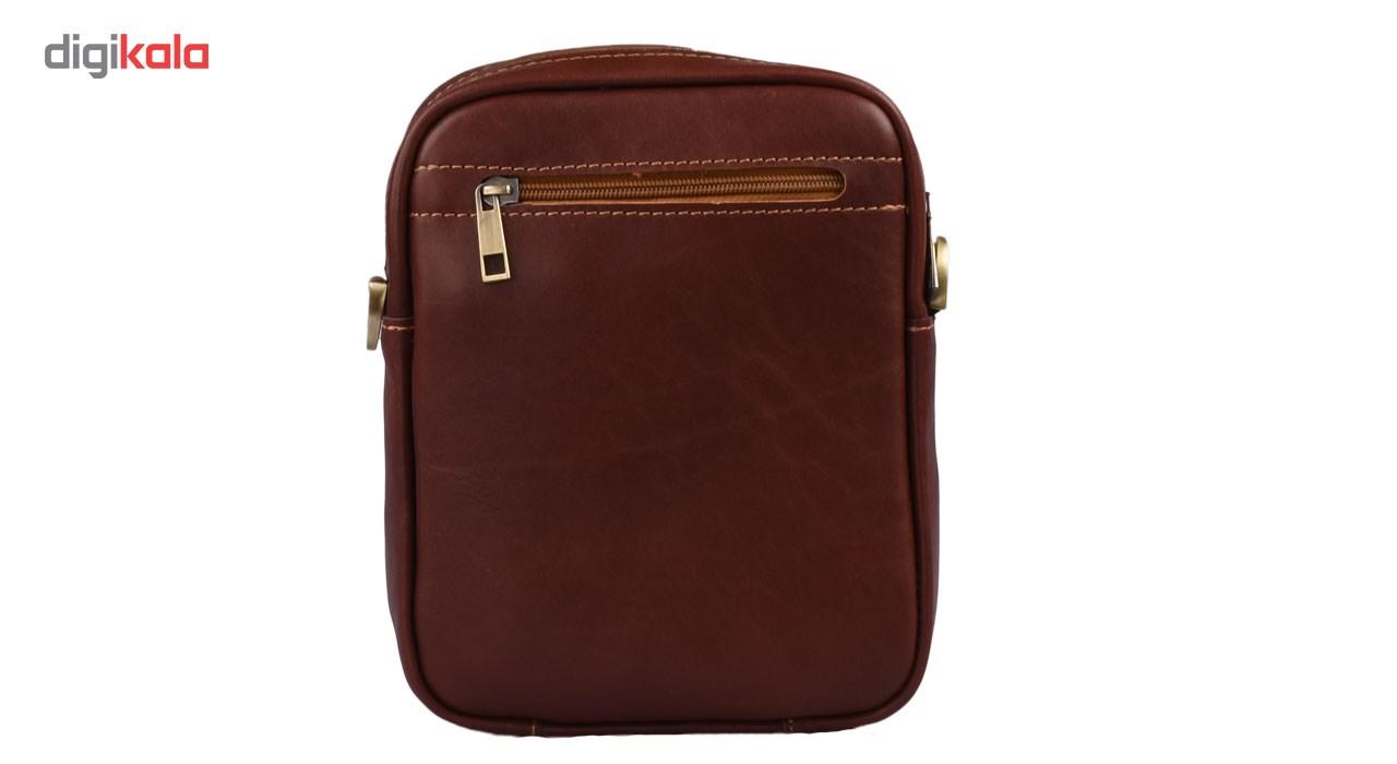 کیف دوشی چرم طبیعی کهن چرم مدل Pdb4-1