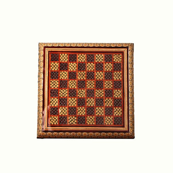 شطرنج خاتم طرح ساده  رنگ قهوه ای مدل 1604600001