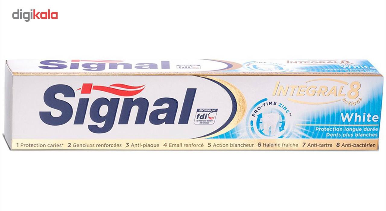 تصویر خمیر دندان سیگنال مدل White حجم 75 میلی لیتر