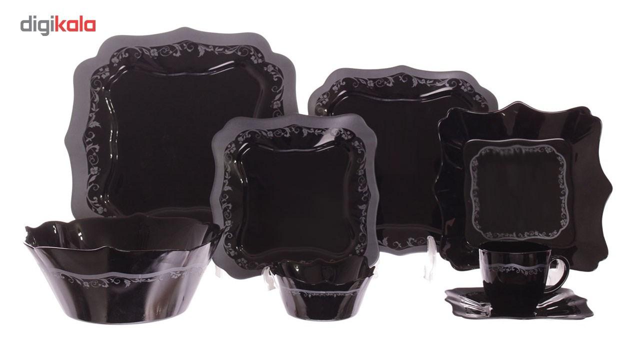 سرویس غذاخوری 38 پارچه لومینارک مدل Authentic Silver Black