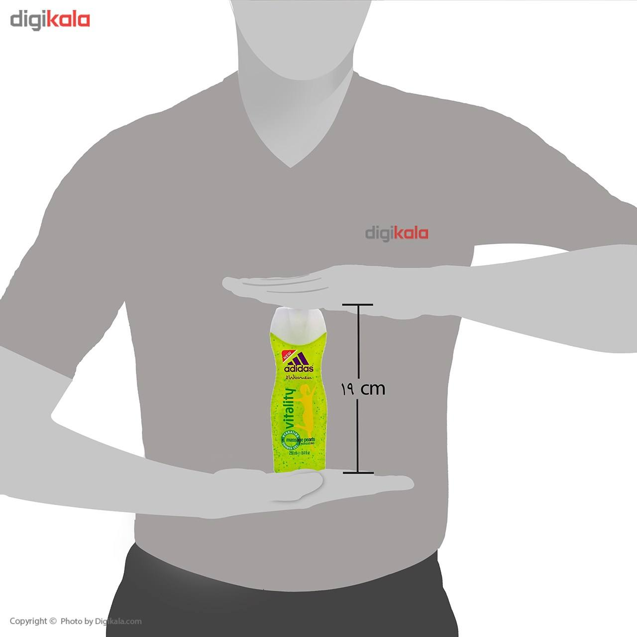 شامپو بدن زنانه آدیداس مدل Vitality حجم 250 میلی لیتر main 1 4