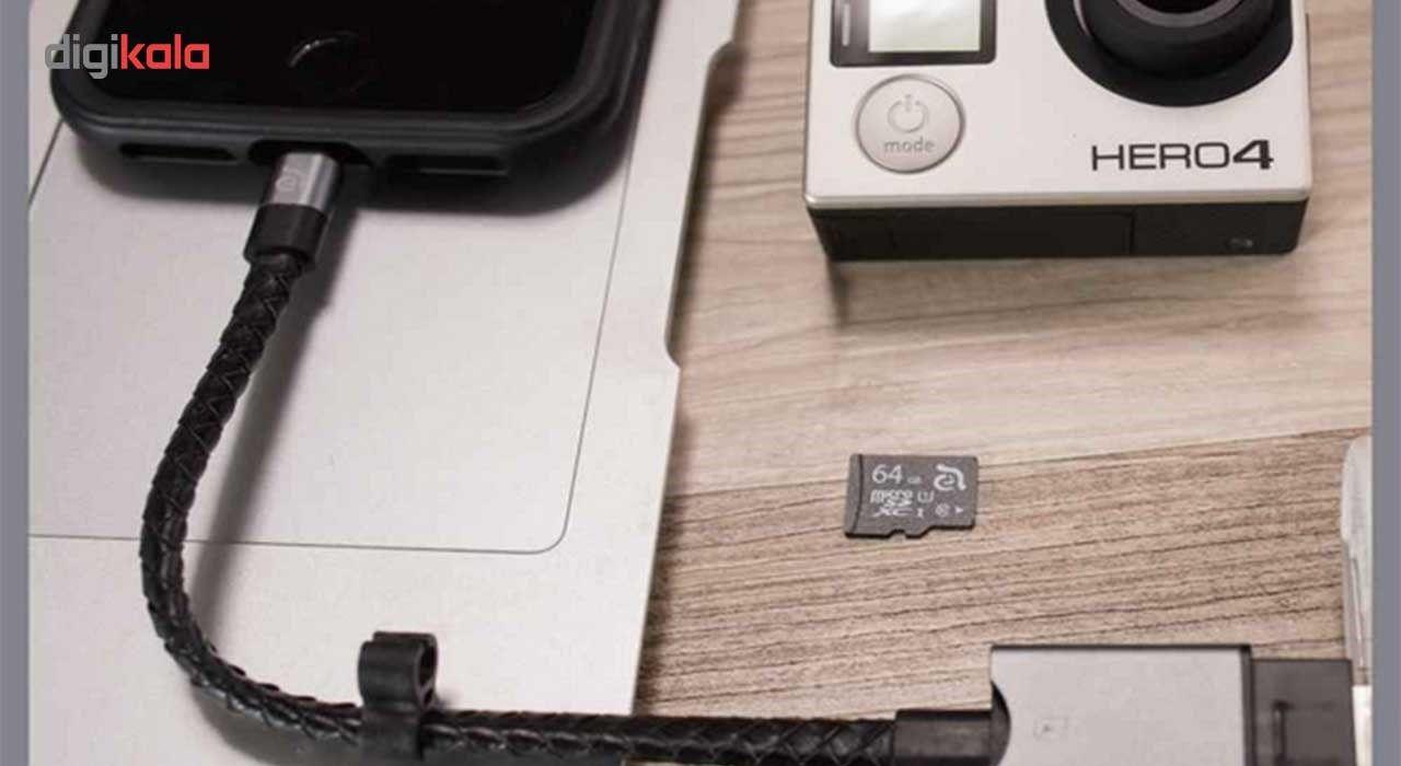 کارت خوان آدام المنتس مدل iKlips Wizard With 128GB microSD با کانکتور لایتنینگ main 1 12