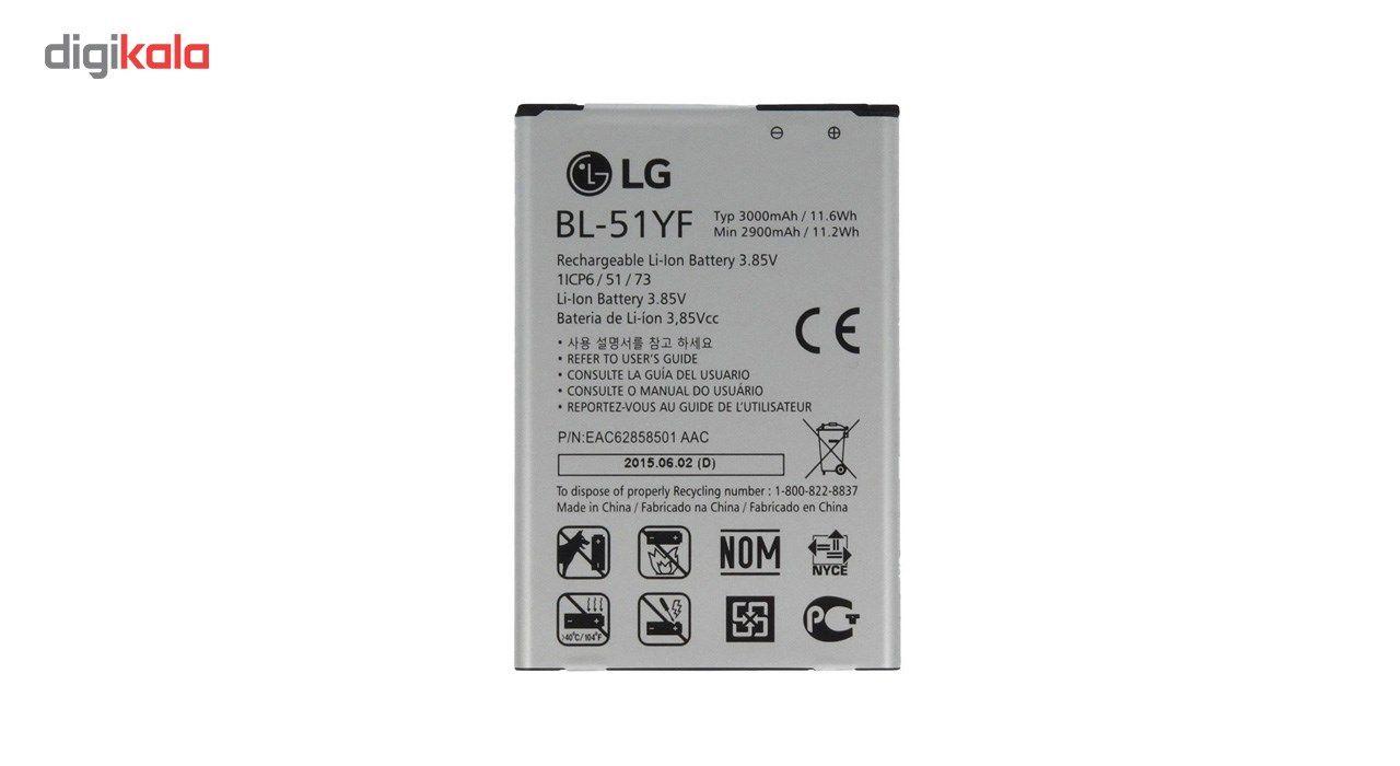 باتری موبایل مدل BL-51YF با ظرفیت 3000mAh مناسب برای گوشی موبایل LG G4 main 1 1