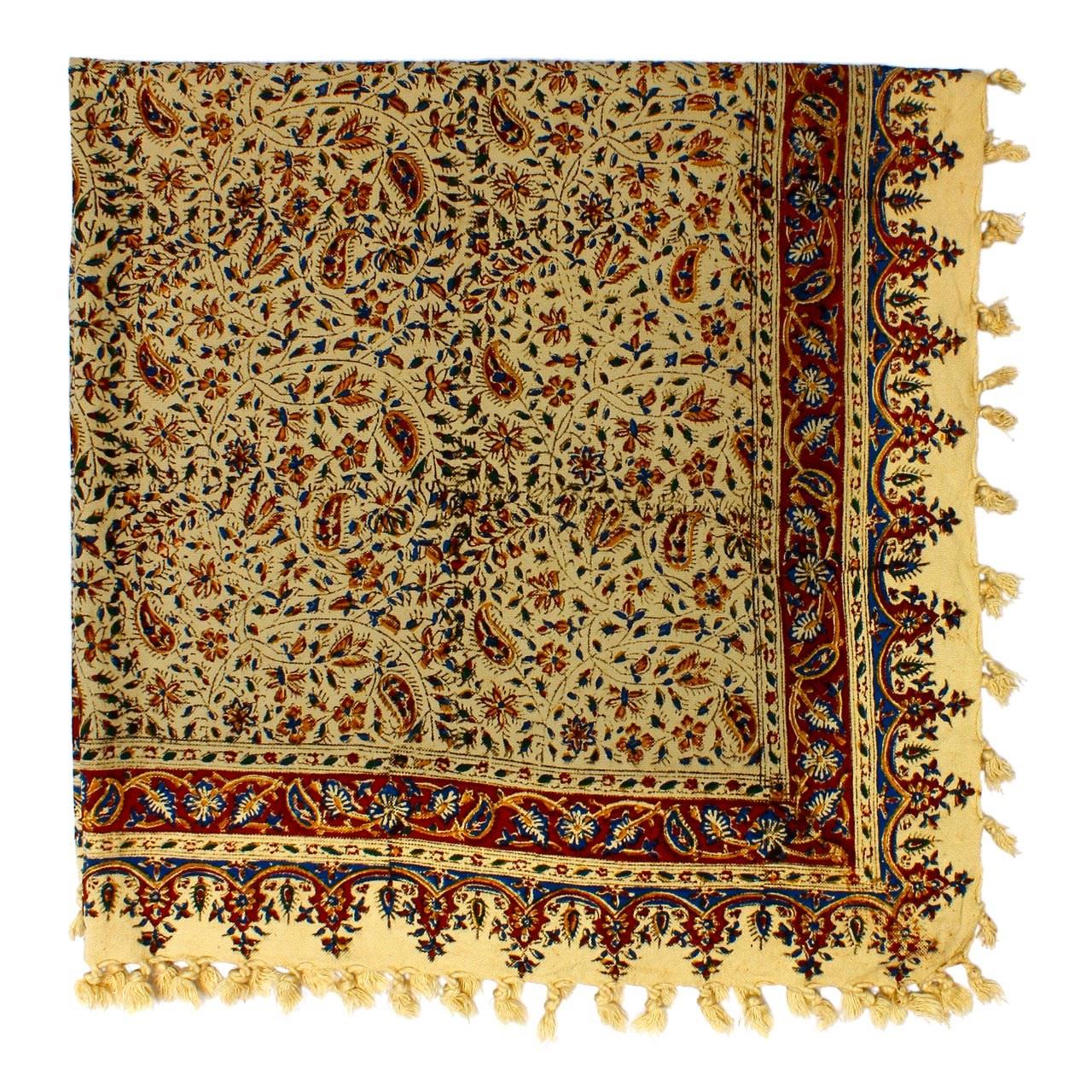 سفره قلمکار اصفهان گالری مند کد MS23 سایز 100 × 100 سانتی متر