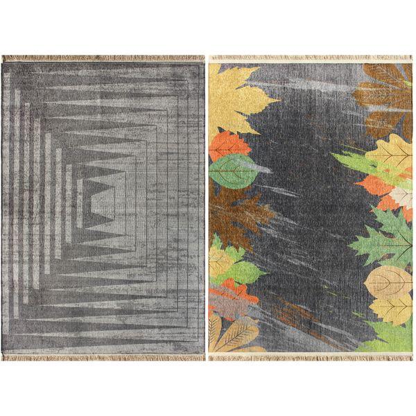 فرش ماشینی دو رو نیروانا مدل Leaves