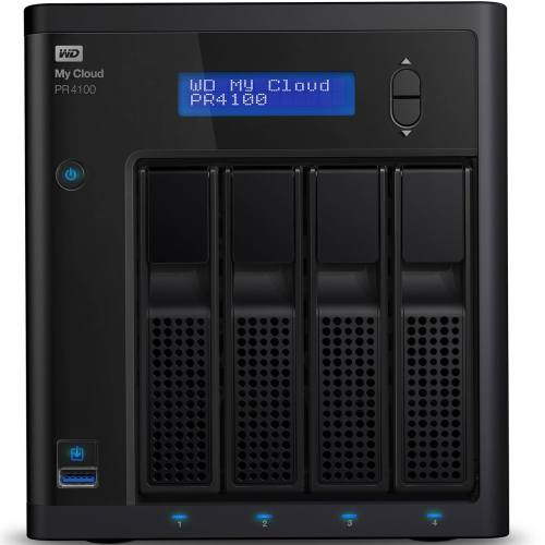 ذخیره ساز تحت شبکه وسترن دیجیتال مدل WD My Cloud PR4100 WDBNFA0320KBK 4-Bay ظرفیت 32 ترابایت