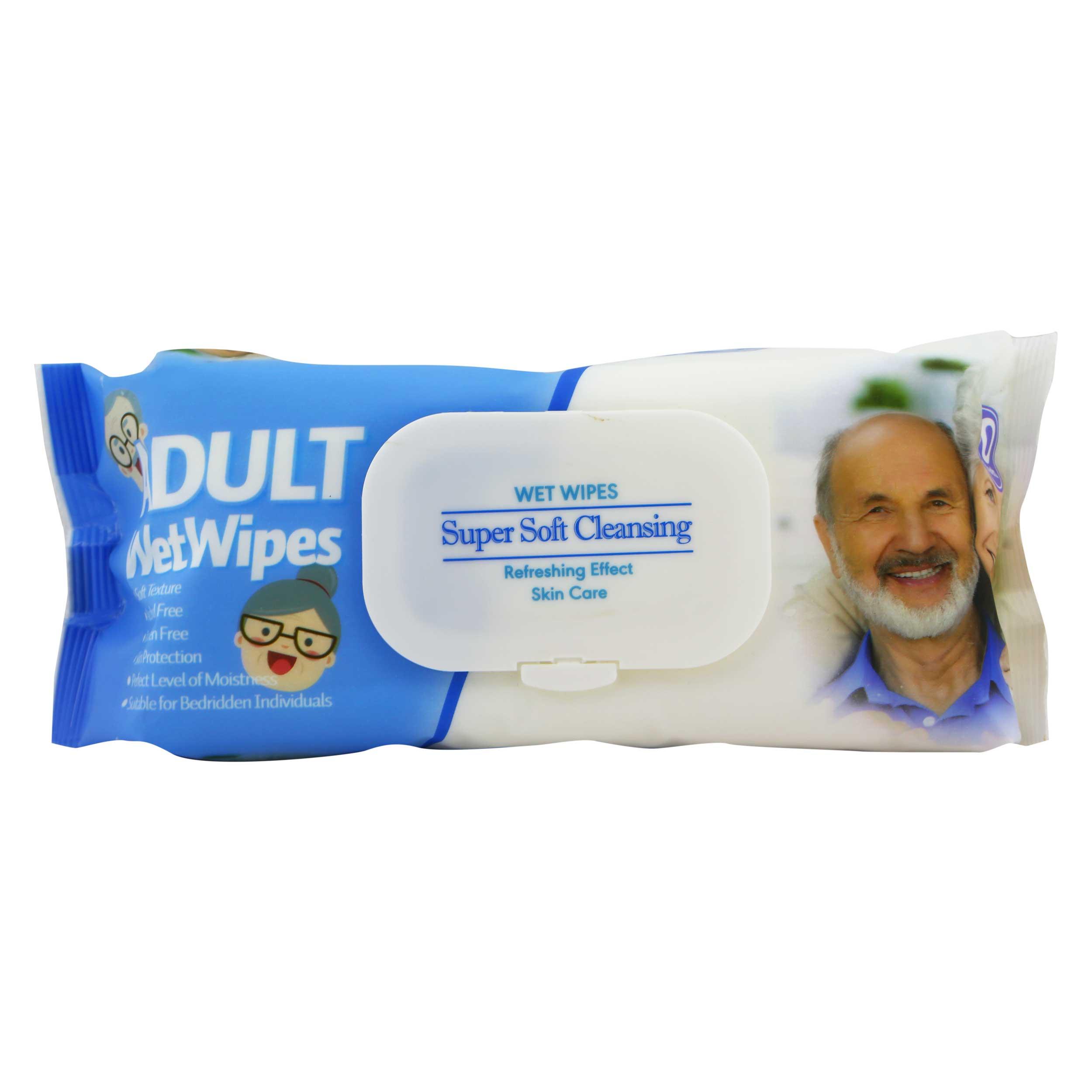 دستمال مرطوب دلفین مدل Super Soft Cleansing  بسته 90 عددی