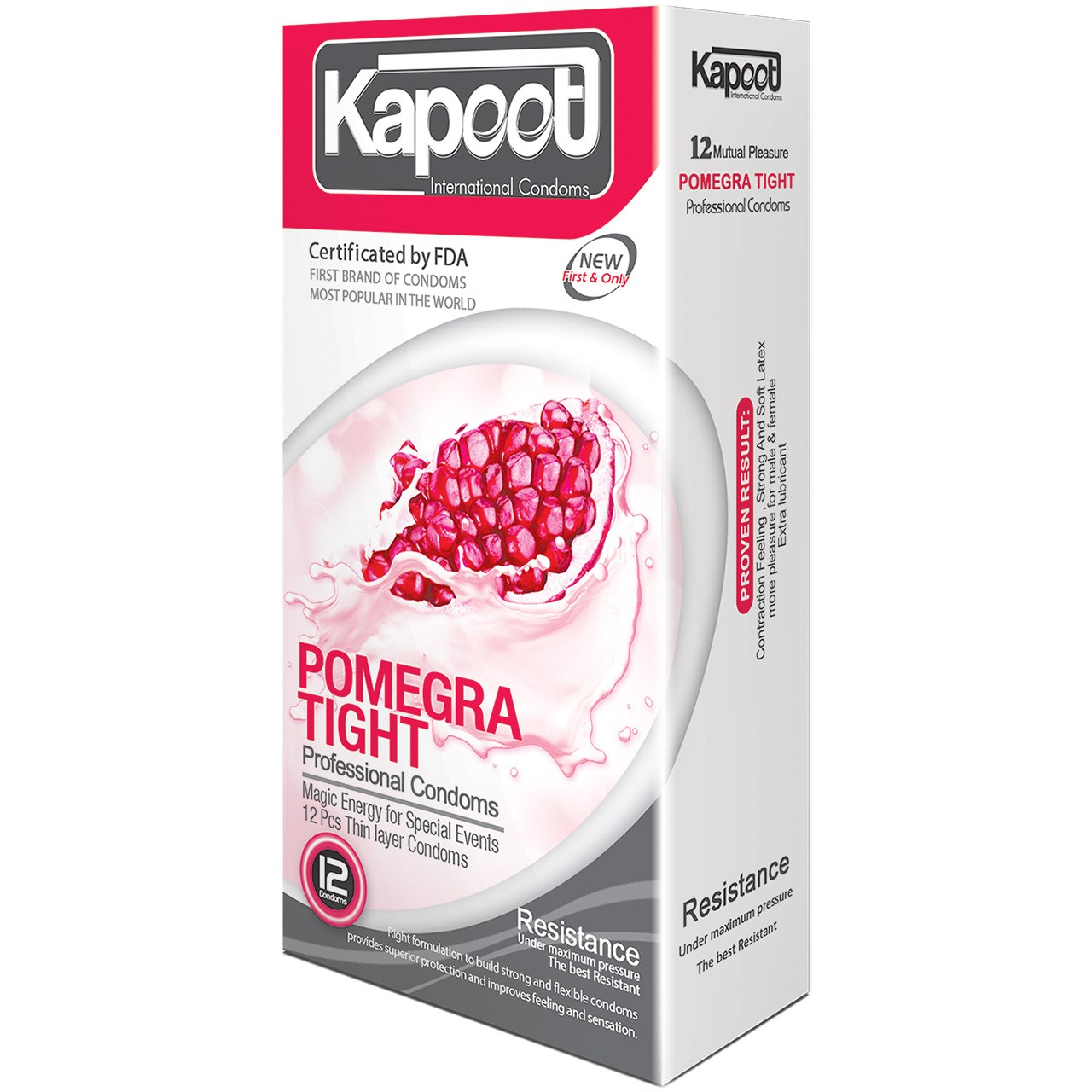 عکس کاندوم کاپوت مدل Pomegra Tight بسته 12 عددی