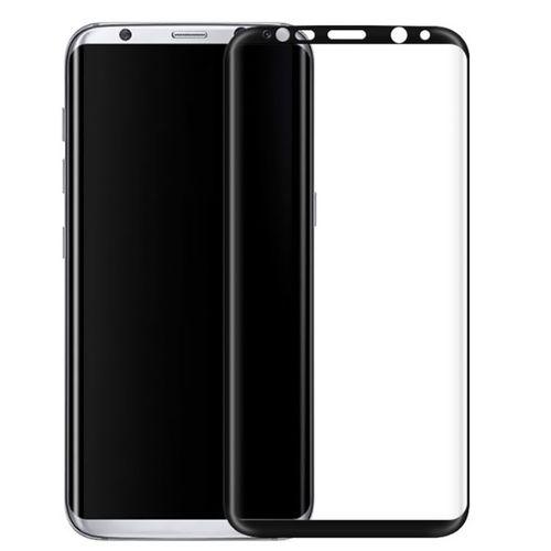 محافظ صفحه نمایش شیشه ای تمپرد مدل Full Cover مناسب برای گوشی موبایل سامسونگ Galaxy S8 Plus