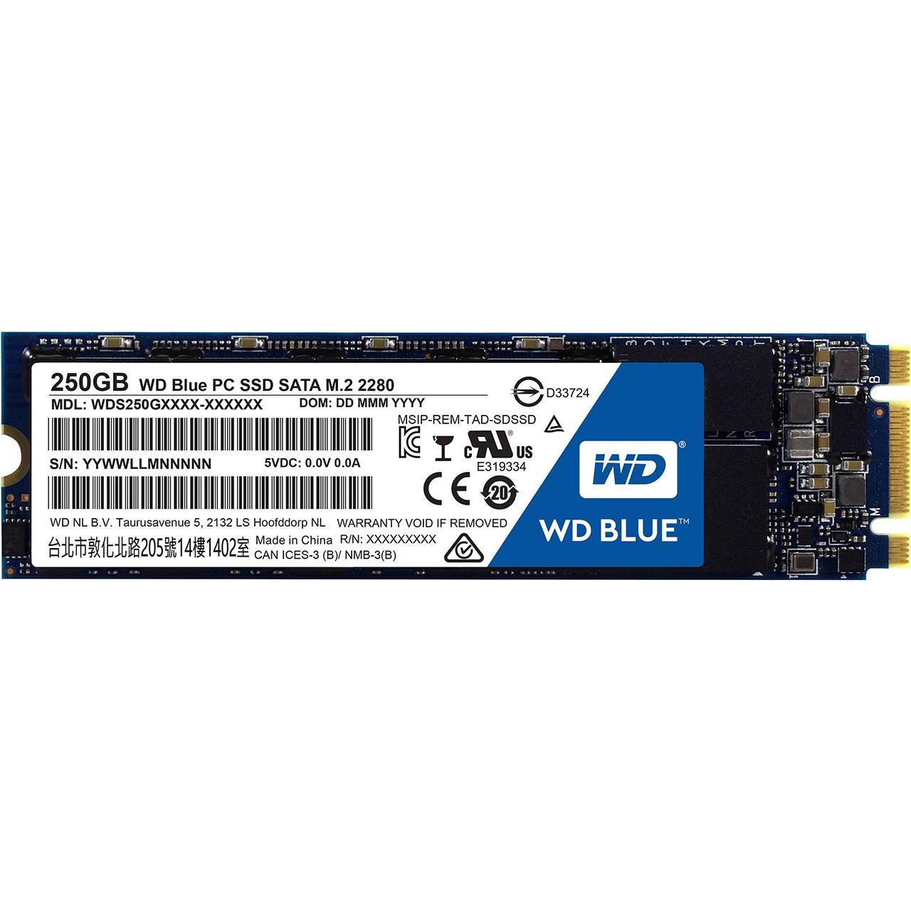 حافظه SSD وسترن دیجیتال مدل BLUE WDS250G1B0B ظرفیت 250 گیگابایت