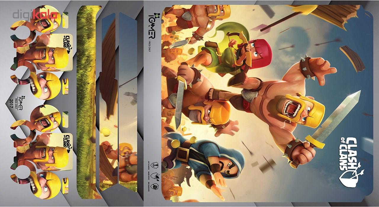 برچسب پلی استیشن 4 اسلیم آی گیمر طرح Clash Of Clans