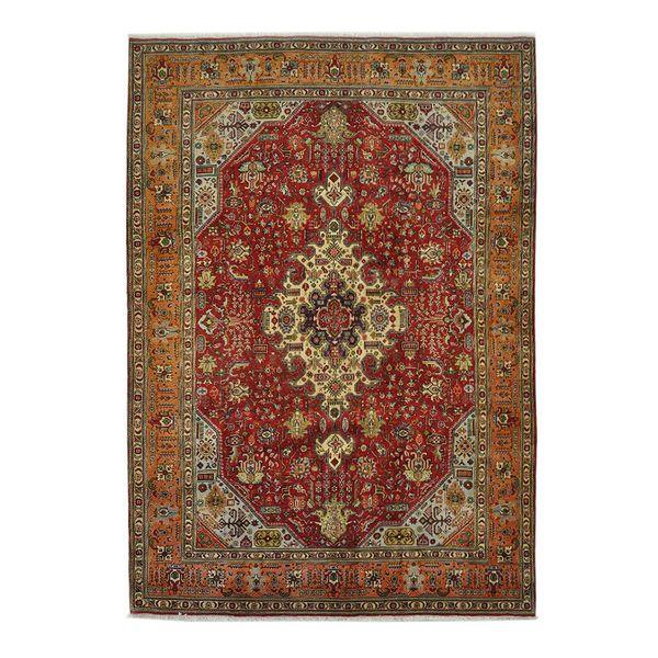 فرش دستبافت قدیمی هشت متری کد 166017