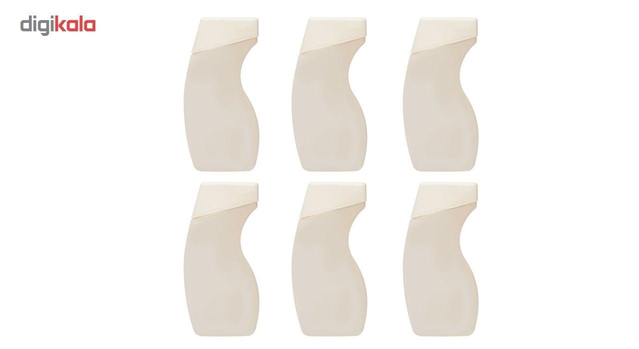 شامپو پرمون مدل سبوس برنج مناسب برای موهای خشک مقدار 250 گرم بسته 6 عددی