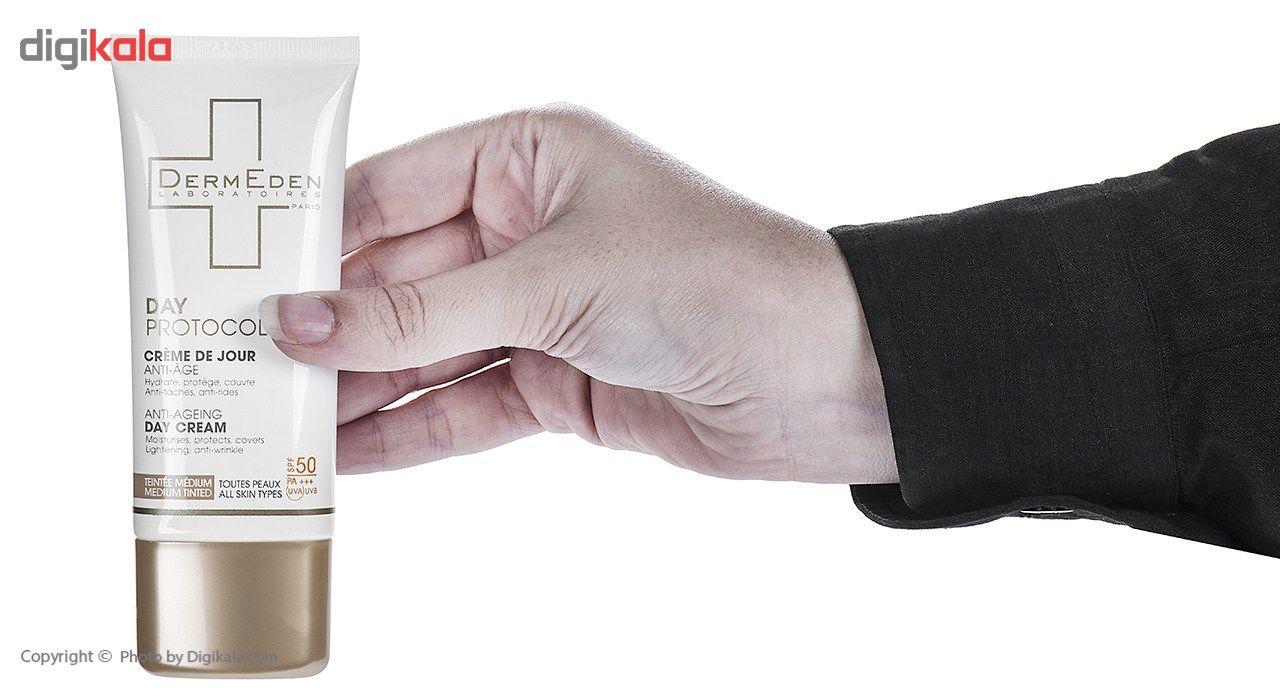 کرم ضد آفتاب و ضد چروک رنگی درمدن سری Day Protocole Spf50 حجم 50 میلی لیتر main 1 4