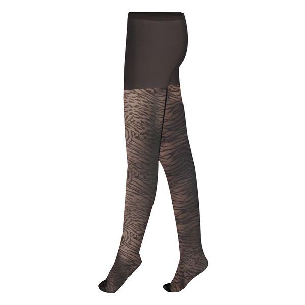 جوراب شلواری زنانه اسمارا مدل پلنگی 50 DEN - nero SM_33
