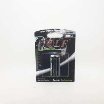 باتری نیم قلمی ولف مدل LR03 بسته ۲ عددی