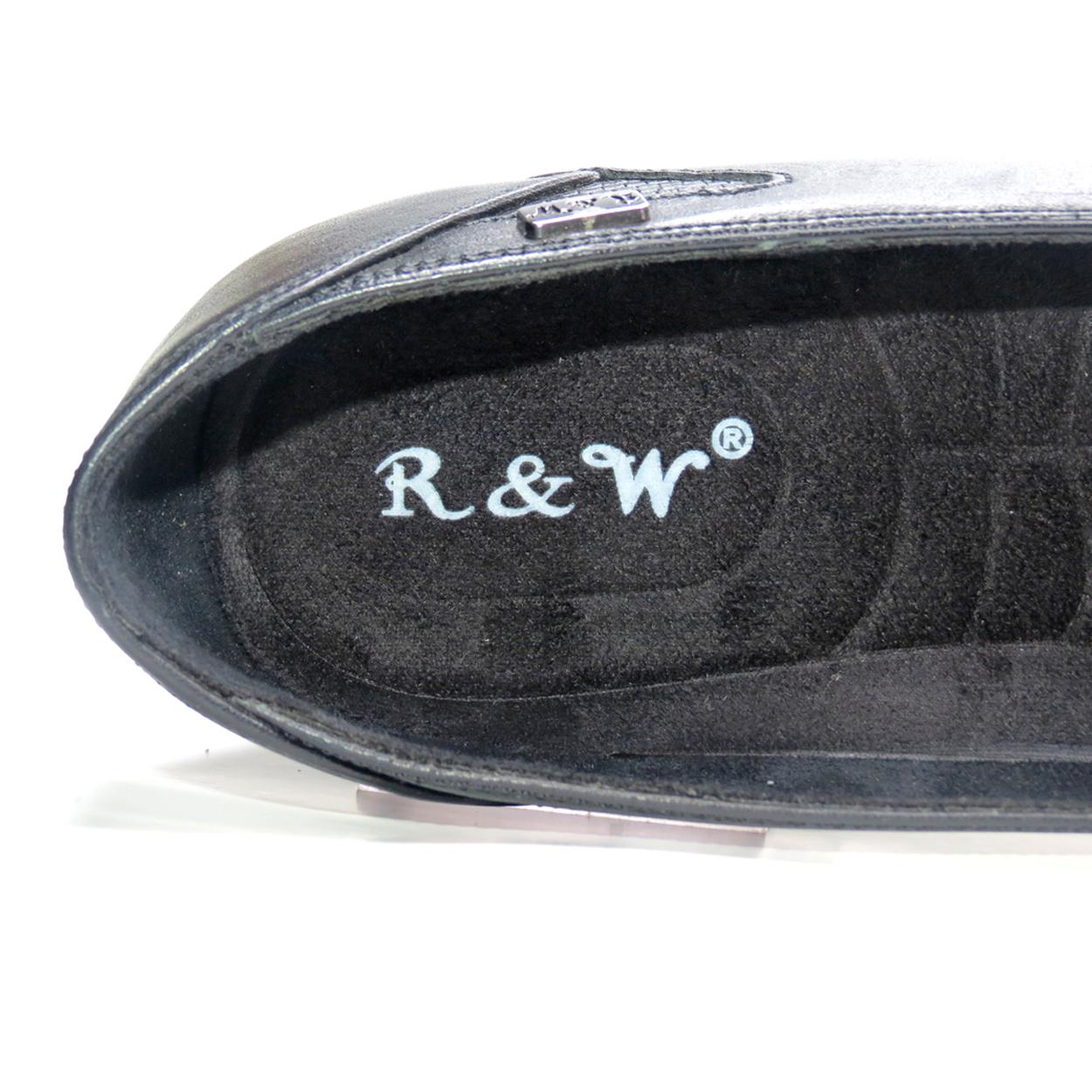 کفش روزمره زنانه آر اند دبلیو مدل 805 رنگ مشکی -  - 9