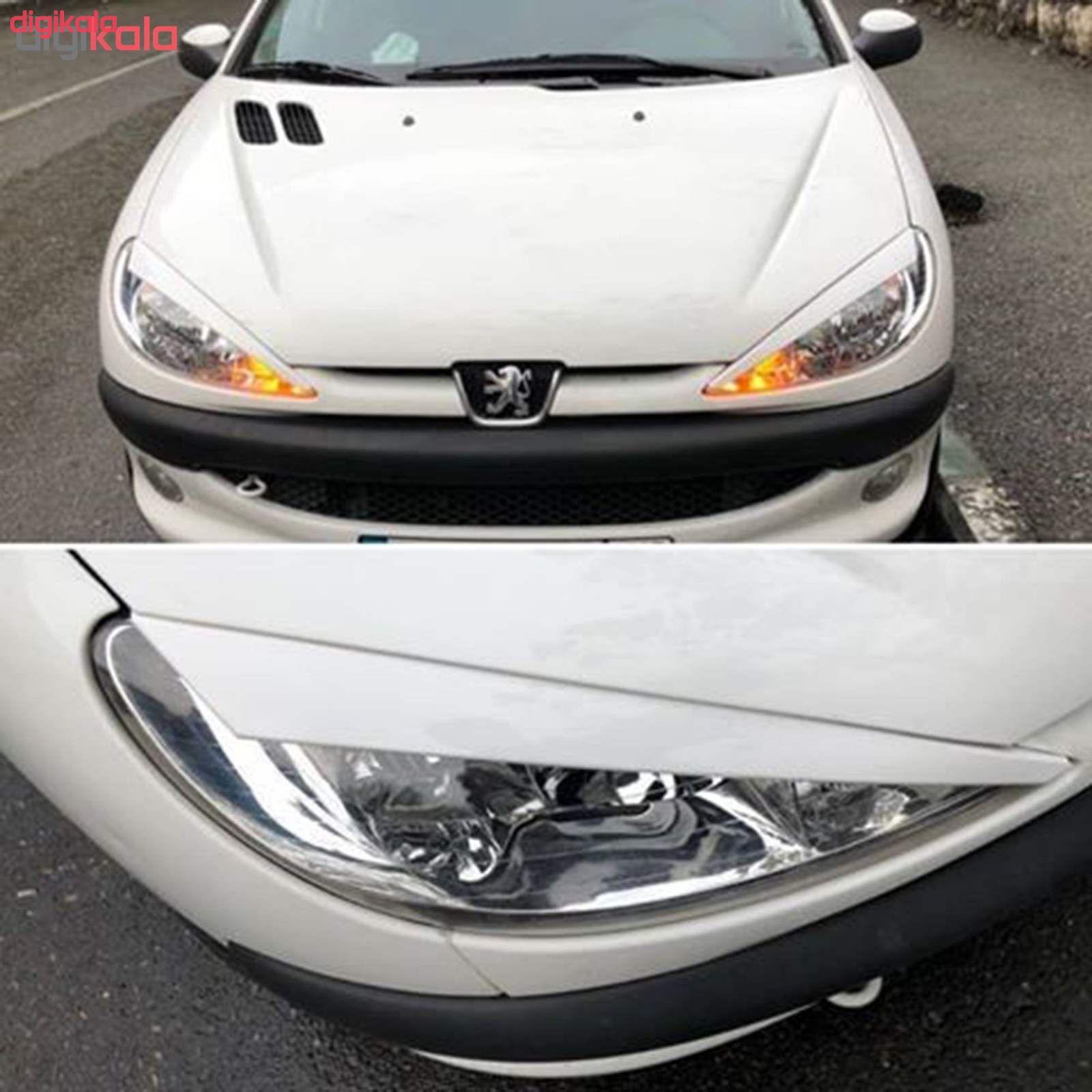 ابرویی چراغ جلو خودرو  مدل farh مناسب برای پژو 206 بسته دو عددی  main 1 2
