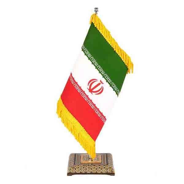 پرچم رومیزی خاتم کاری هنرلوکس مدل KP42