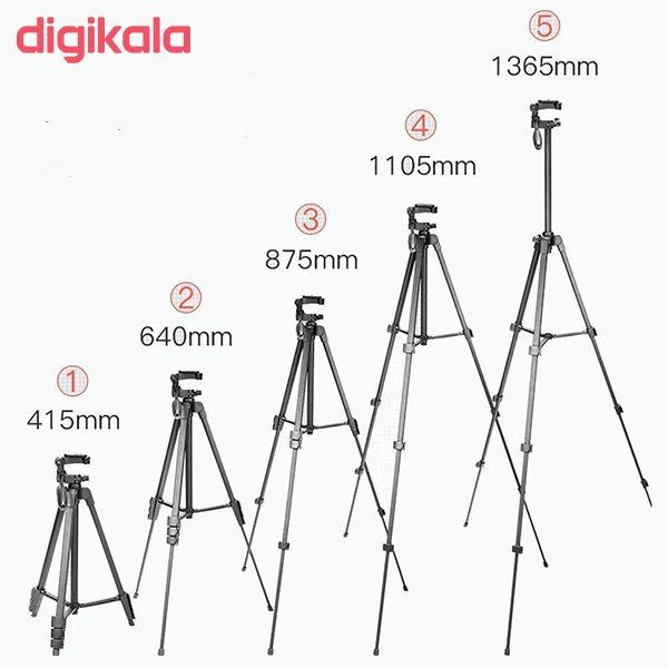 سه پایه دوربین نست مدل NT-510 به همراه گیره نگهدارنده موبایل main 1 9