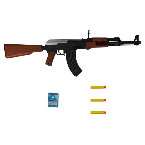 تفنگ بازی طرح کلاشینکف مدل AK123 کد 500 مجموعه 5 عددی