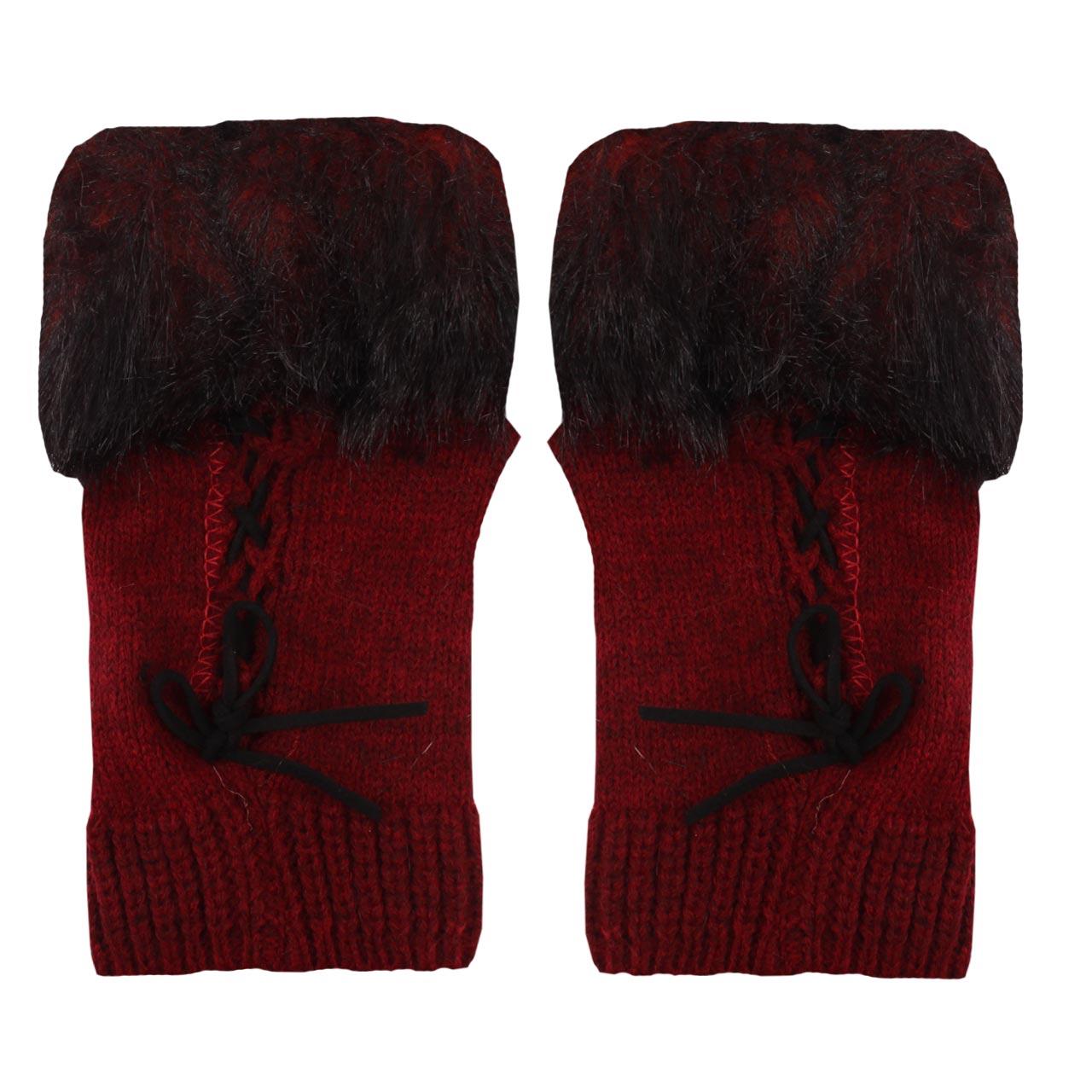 دستکش بافتنی زنانه مدل 021
