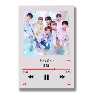 تابلو شاسی مدل موزیک آرت طرح BTS STAY GOLD کد MP3_4
