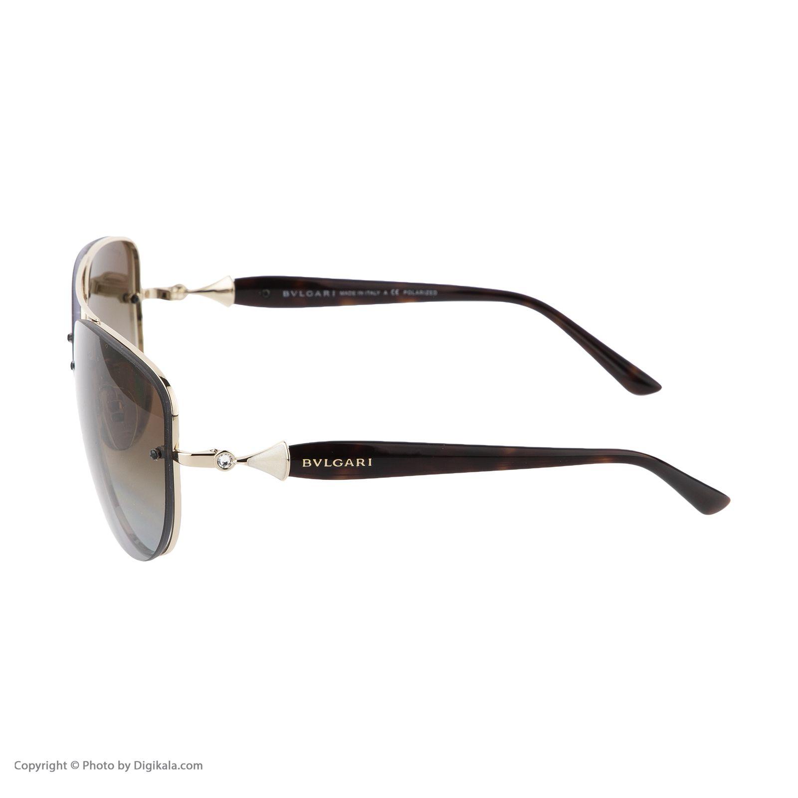 عینک آفتابی مردانه بولگاری مدل BV6086B 0278T5 -  - 6
