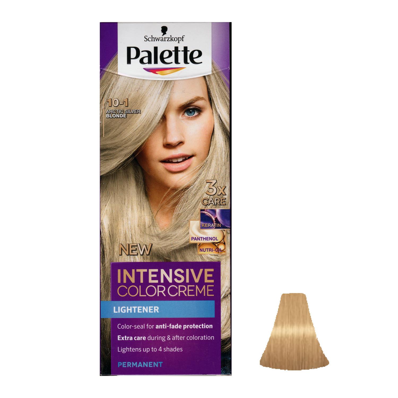 کیت رنگ مو پلت سری Intensive شماره 1-10 حجم ۵۰ میلی لیتر رنگ بلوند نقره ای